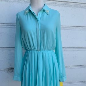 Blue Forever 21 Retro-Style Dress Sz Small